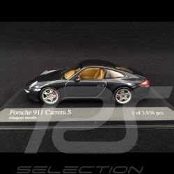 Porsche 997 Carrera S ph1 2005 gris 1/43 Minichamps 400063021