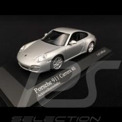Porsche 997 Carrera 4S ph II 2009 silver 1/43 Minichamps 400066421