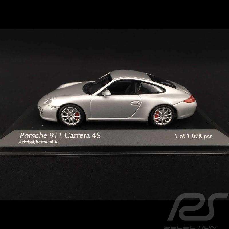 Porsche 997 Carrera 4S ph II 2009 argent 1/43 Minichamps 400066421