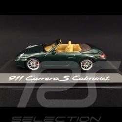 Porsche 911 type 997 Carrera S cabriolet mk 2 2009 green metallic 1/43 Minichamps WAP02011815