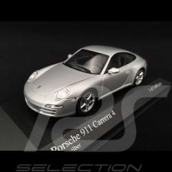 Porsche 997 Carrera 4 2005 gris 1/43 Minichamps 400065320