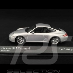 Porsche 997 Carrera 4 Mk 1 2005 grey 1/43 Minichamps 400065320