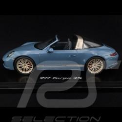 Porsche 911 type 991 Targa 4S phase II aetna blue 1/18 Spark WAX02100014
