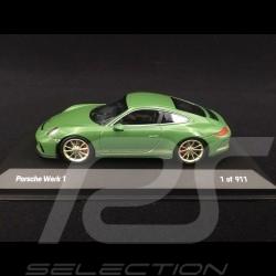 Porsche 911 type 991 GT3 Touring Phase II 2017 Package Usine 1 Vert green grün auratium 1/43 Minichamps WAX020200W1