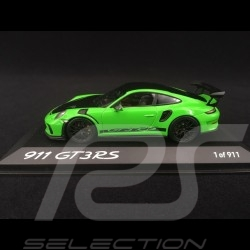 Porsche 911 type 991 GT3 RS Phase II Pack Weissach 2018 NürburgringVert lézard 1/43 Minichamps WAX02020097