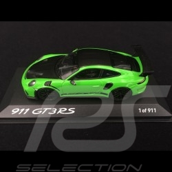 Porsche 911 type 991 GT3 RS Phase II Pack Weissach 2018 Nürburgring lizard green 1/43 Minichamps WAX02020097
