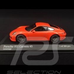 Porsche 911 type 991 phase II Carrera 4S 2016 orange fusion lava orange 1/43 Minichamps 410067241