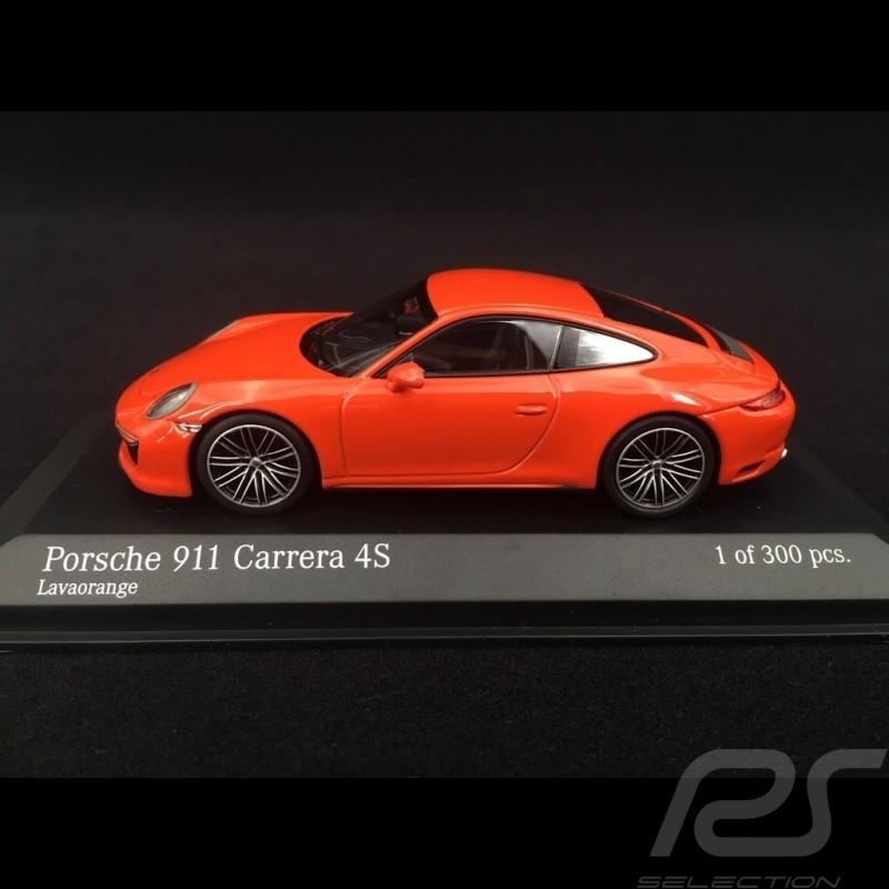Porsche 911 type 991 phase II Carrera 4S 2016 lava orange 1/43 Minichamps 410067241