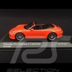 Porsche 911 type 991 phase II Carrera 4 Cabriolet 2016 orange fusion 1/43 Minichamps 410067231