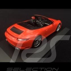 Porsche 911 type 991 phase II Carrera 4 Cabriolet 2016 lava orange 1/43 Minichamps 410067231