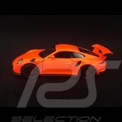 Porsche 911 GT3 RS type 991 PH1 2015 jouet à friction Welly orange fluo WAX02600005