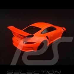 Porsche 911 GT3 RS type 991 MK1 2015 pull back toy Welly neon orange WAX02600005
