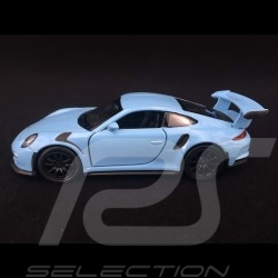 Porsche 911 GT3 RS type 991 MK1 2015 pull back toy Welly Gulf blue WAX02600005