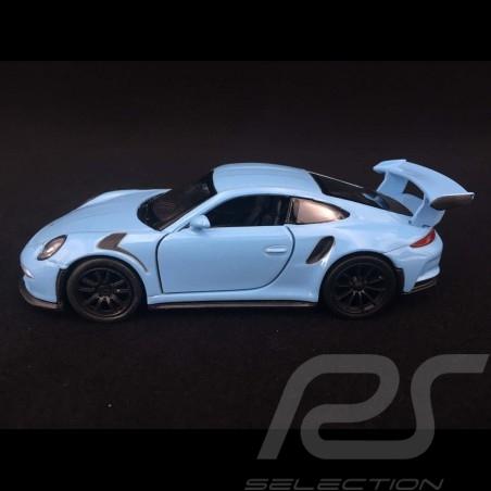 Porsche 911 GT3 RS type 991 MK1 2015 pull back toy Welly Gulf blue WAX02600005