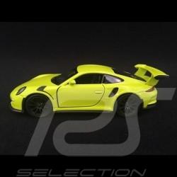 Porsche 911 GT3 RS type 991 PH1 2015 jouet à friction Welly vert lumière WAX02600005