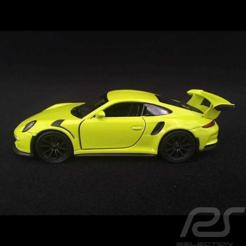 Porsche 911 GT3 RS type 991 MK1 2015 pull back toy Welly light green WAX02600005