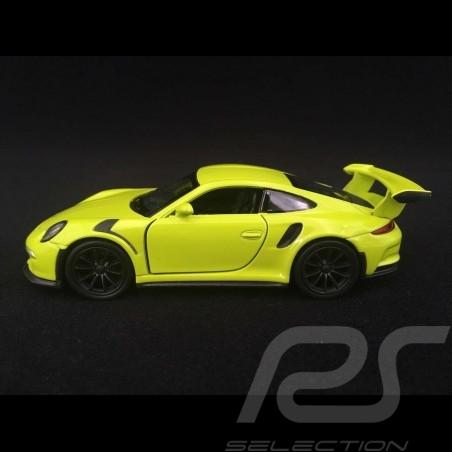 Porsche 911 GT3 RS type 991 MK1 2015 pull back toy Welly light green WAX02600005