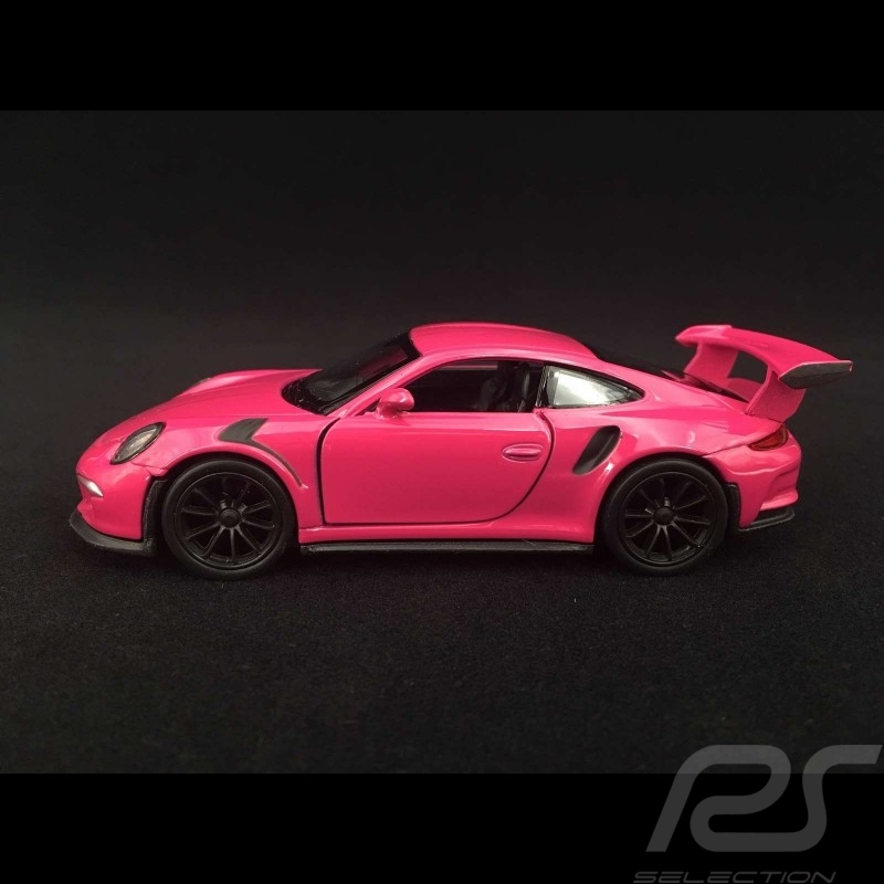 Porsche 911 GT3 RS type 991 MK1 2015 pull back toy Welly Fuchsia ruby red WAX02600005