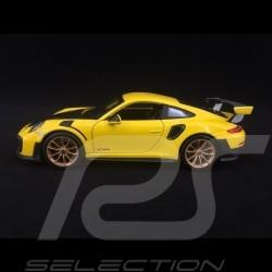 Porsche 911 type 991 GT2 RS phase II 2018 jaune / carbone carbon Kohlenstoff 1/24 Maisto 31523