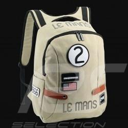 Sac à dos 24h Le Mans Legende Classic Coton Beige Fourniture officielle LM300BE-20B