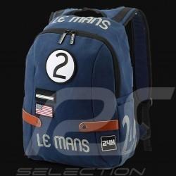 Sac à dos 24h Le Mans Legende Classic Coton Bleu marine Fourniture officielle LM300BL-20B