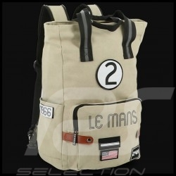 Sac à dos 24h Le Mans Legende Modern Coton Beige Fourniture officielle LM300BE-20A