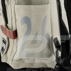 24h Le Mans Legende Modern backpack Beige Cotton Official Supply LM300BE-20A