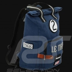 24h Le Mans Legende Modern backpack Navy blue Cotton Official Supply LM300BL-20A