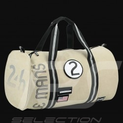 24h Le Mans Legende Modern backpack Beige Cotton Official Supply LM300BE-20A