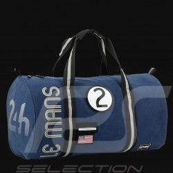 24h Le Mans Legende Modern Duffle bag Navy blue Cotton Official Supply LM300BL-19