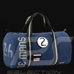 Sac de voyage 24h Le Mans Legende Polochon Coton Bleu marine Fourniture officielle LM300BL-19