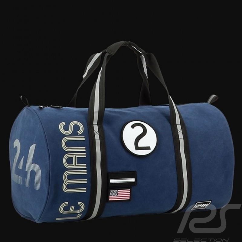 24h Le Mans Legende Modern Duffle bag Navy blue Cotton Official Supply LM300BL-19