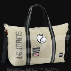 Sac de voyage 24h Le Mans Legende Weekend Coton Beige Fourniture officielle LM300BE-16