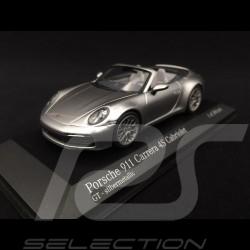 Porsche 911 type 992 Carrera 4S Cabriolet 2019 GT silver 1/43 Minichamps 410069330