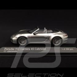 Porsche 911 type 992 Carrera 4S Cabriolet 2019 argent GT 1/43 Minichamps 410069330