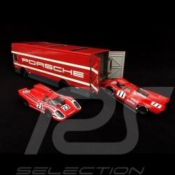 Mercedes O 317 LKW Porsche Koffer Motorsport Rot 1/43 Schuco 450372900