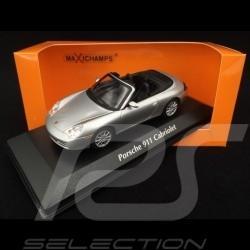 Porsche 911 type 996 Cabriolet 2001 silver 1/43 Minichamps 940061031