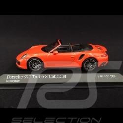 Porsche 911 type 991 Turbo S Cabriolet phase II 2016 lava orange 1/43 Minichamps 410067181