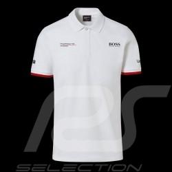 Porsche Motorsport Hugo Boss Polo shirt white Porsche Design WAP430LMS - men