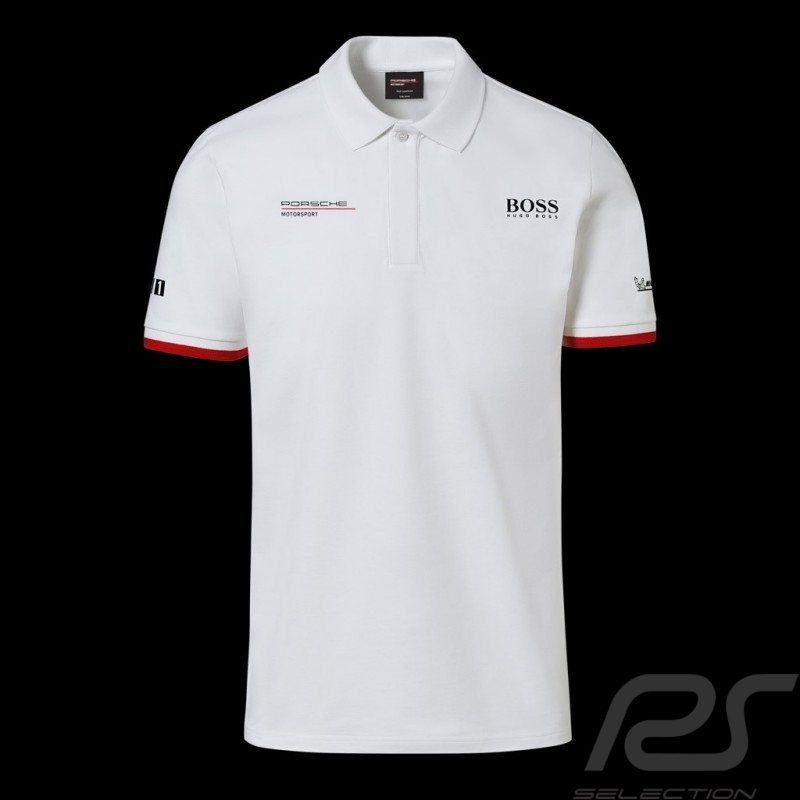 Porsche Motorsport Hugo Boss Polo shirt white Porsche Design WAP430LMS - men
