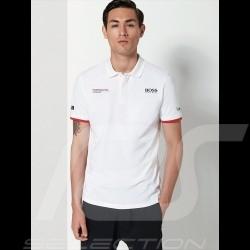 Porsche Motorsport Hugo Boss Polo-shirt weiß Porsche Design WAP430LMS - Herren
