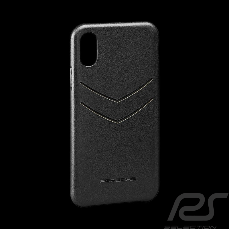 Porsche Hard case for I-phone XS Max leather material black Porsche Design WAP0300040KIP