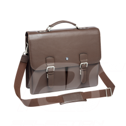 Mercedes Classic Business satchel bag Dark brown Leather Mercedes-Benz B66043051