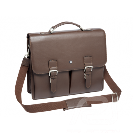 Mercedes Classic Business satchel bag Dark brown Leather Mercedes-Benz B66043051