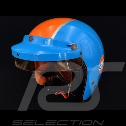 Gulf  Pin up Helm cobaltblau / orange
