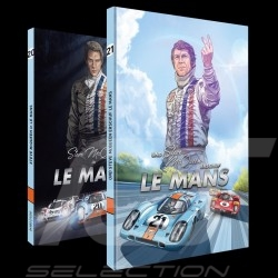 Pack Comic Buch Steve McQueen Le Mans - Band 1 & 2 - Deutsch