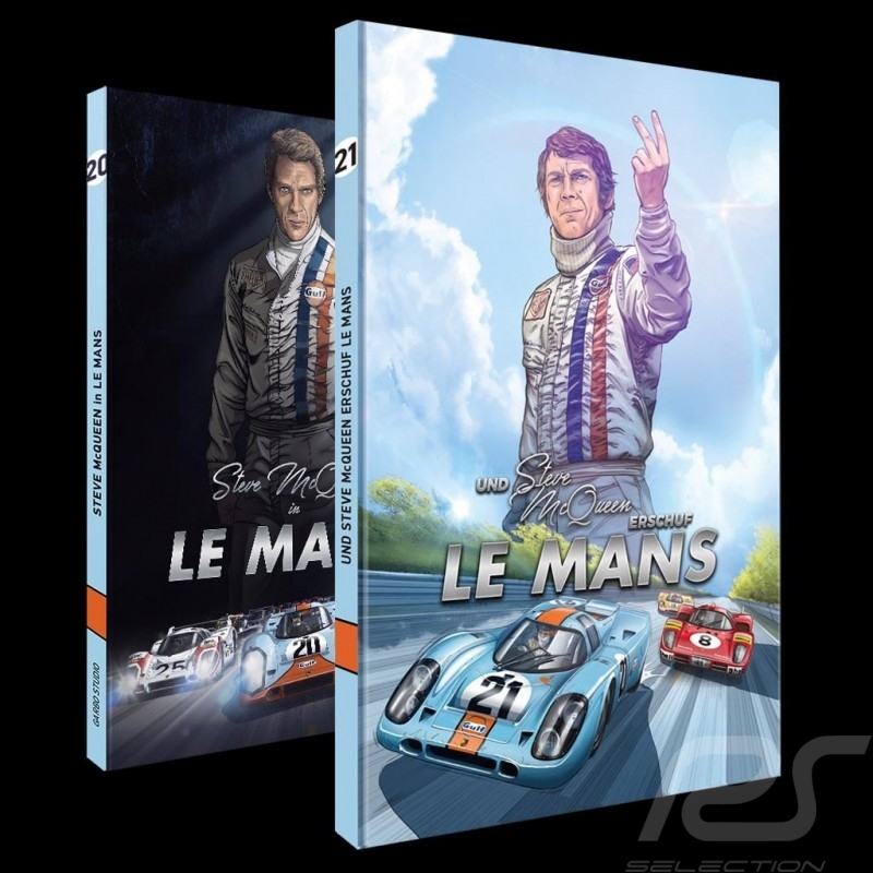 Duo Livre BD Steve McQueen Le Mans - Tome 1 & 2 Comic book buch allemand german deutsch