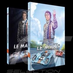 Pack Comic Buch Steve McQueen Le Mans - Band 1 & 2 - Englisch