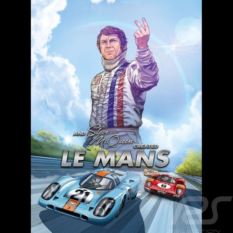 Livre BD And Steve McQueen created Le Mans - Tome 2 Comic book Buch anglais english Englisch