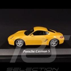 Porsche Cayman S type 987 2005 jaune racing 1/43 Minichamps 940065620 racing yellow racinggelb
